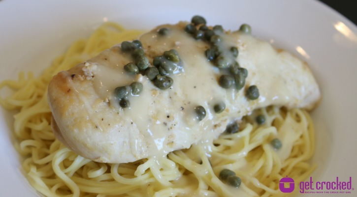 ** Slow Cooker Lemon Caper Chicken