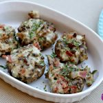 Slow Cooker Cheesy Bacon Stuffed Mushrooms