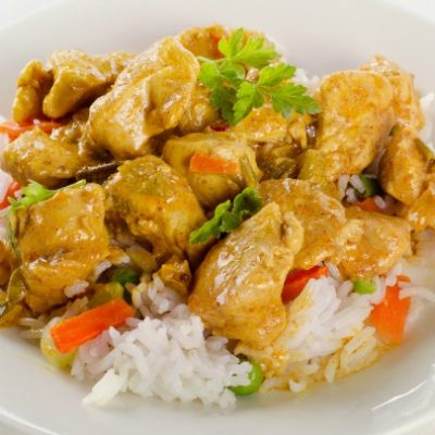 ** Slow Cooker Healthier Chicken Curry