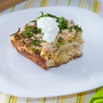 ** Slow Cooker Sausage & White Cheddar Breakfast Casserole